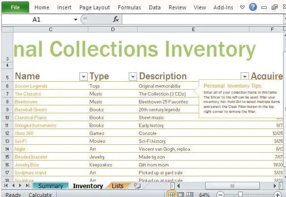 4 Inventory List Templates Excel - Excel xlts