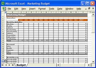 4 Excel Marketing Plan Budget Templates - Excel xlts