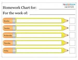 daily homework assignment sheet