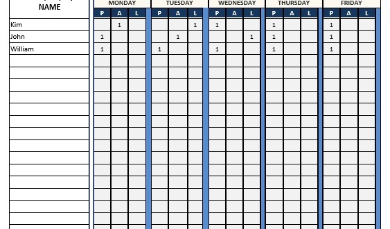 Attendance Sheet u2013 Word Template u2013 Microsoft Word Templates - attendance sheet template word
