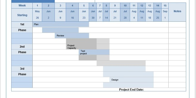 Project Schedule \u2013 Word Template \u2013 Microsoft Word Templates