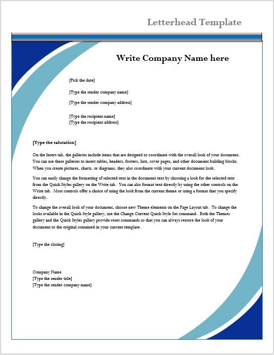 Letterhead Template \u2013 Microsoft Word Templates