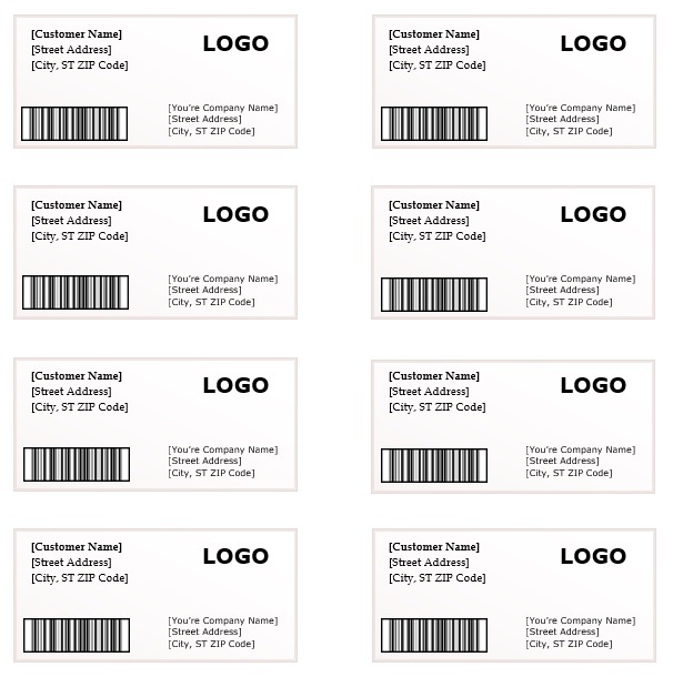 address label template word - Selol-ink - sample address label