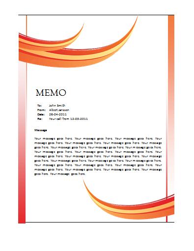 Memo Word Templates – Microsoft Word Templates