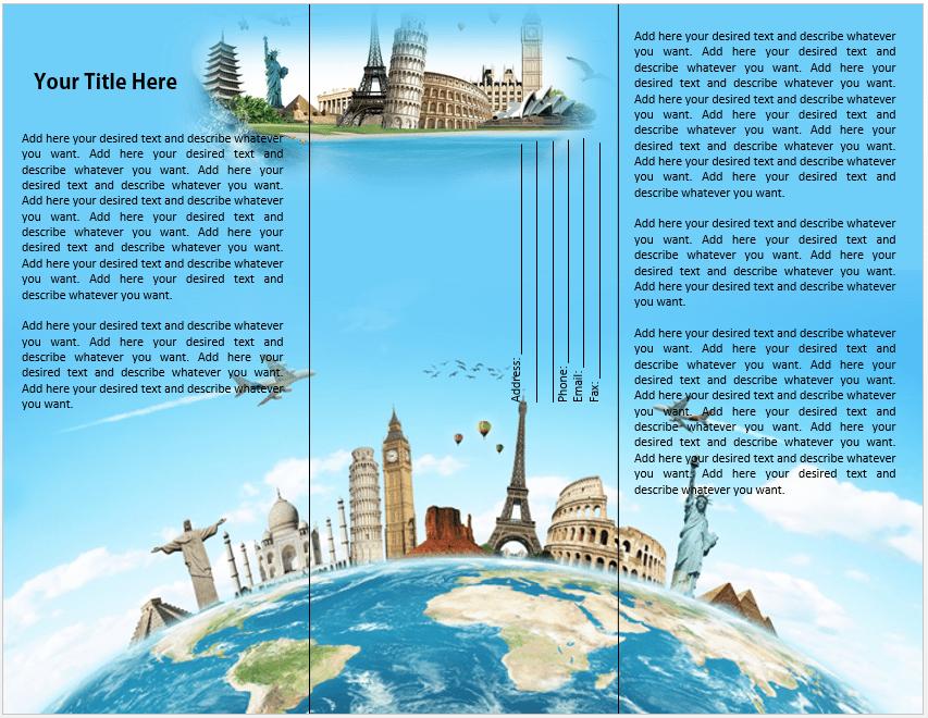 tourist brochure format