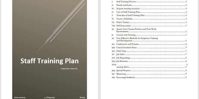 staff training plan template