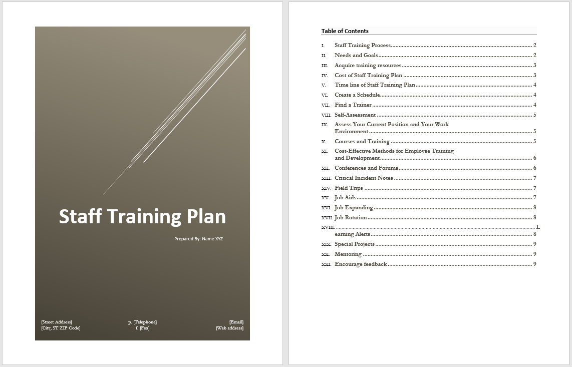 Microsoft Word Plan Template – Microsoft Action Plan Template