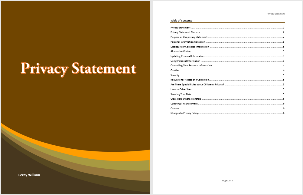 sample brochure templates microsoft word