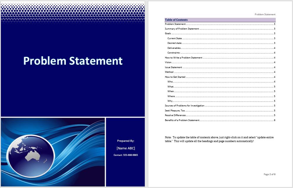 microsoft statement template