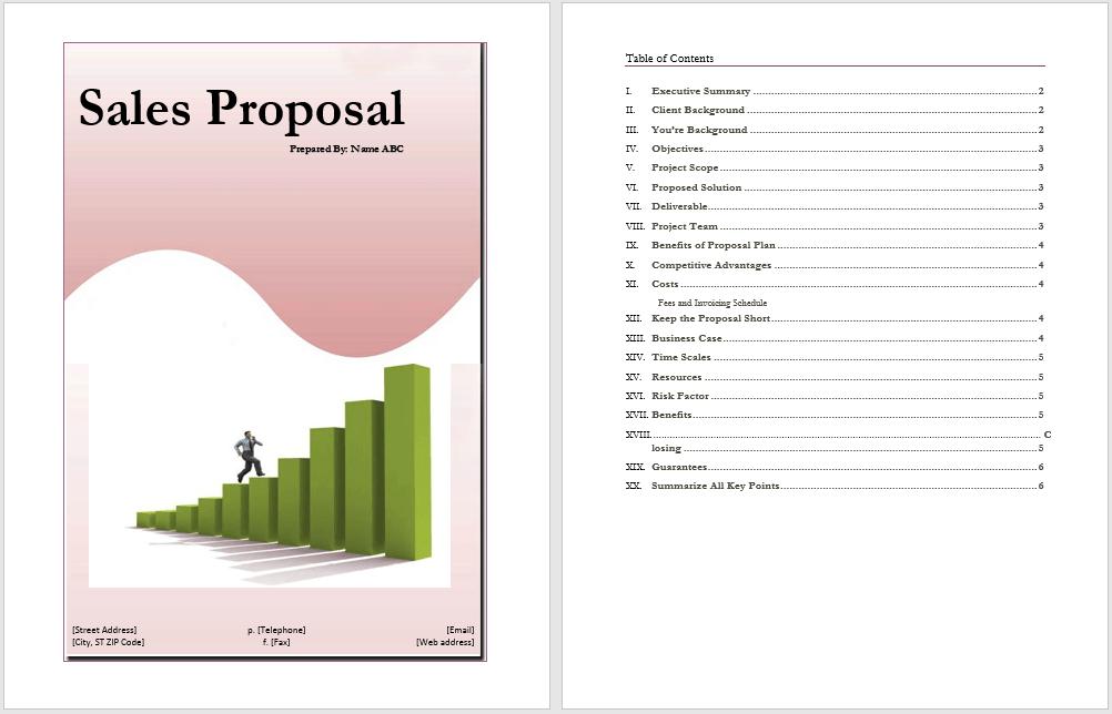 Bid Proposal Template Word   Sample CV Resume