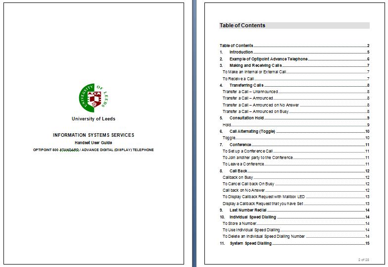Training Manual Template Word 2010 - Costumepartyrun