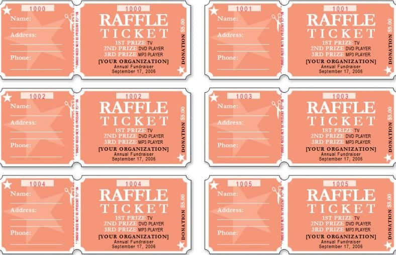 Free Raffle Ticket Template For Publisher Choice Image - Template - event ticket template free download