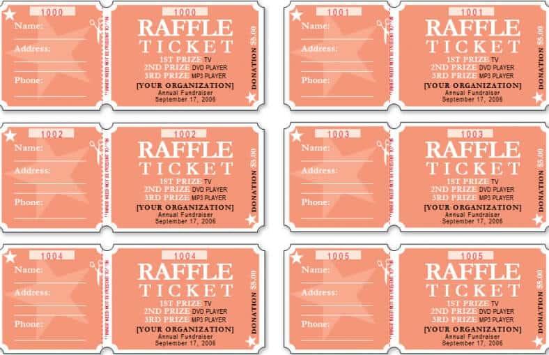 Raffle Ticket Templates - Word Templates Docs