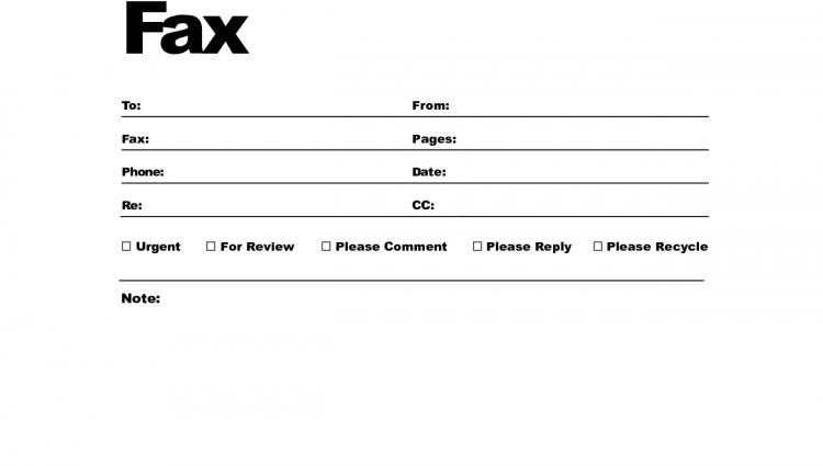 Fax Cover Sheet Templates - Word Templates Docs