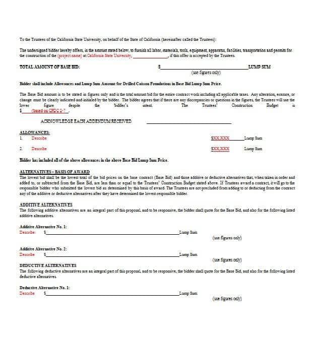 Word Proposal Templates - Word Templates Docs