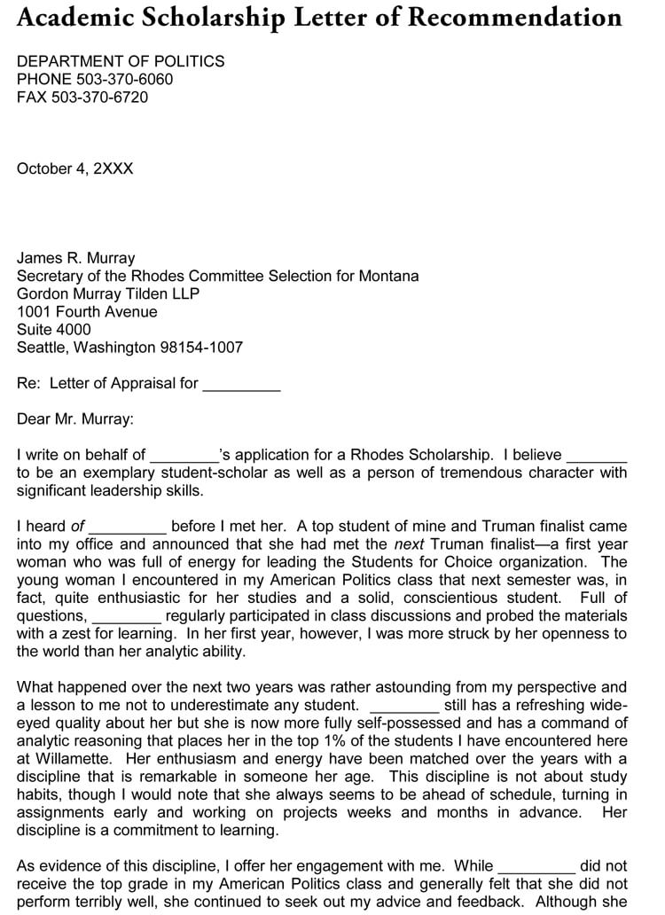Dear Admissions Committee Recommendation Letter