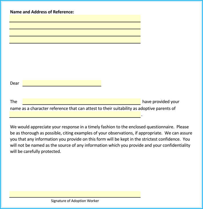 Adoption Reference Letter - How to Write it + Free Samples - sample letters of reference