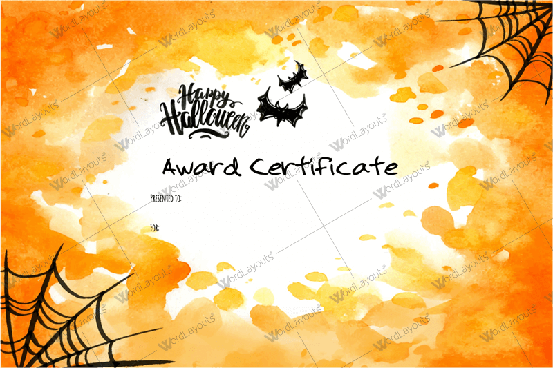 free word certificate templates
