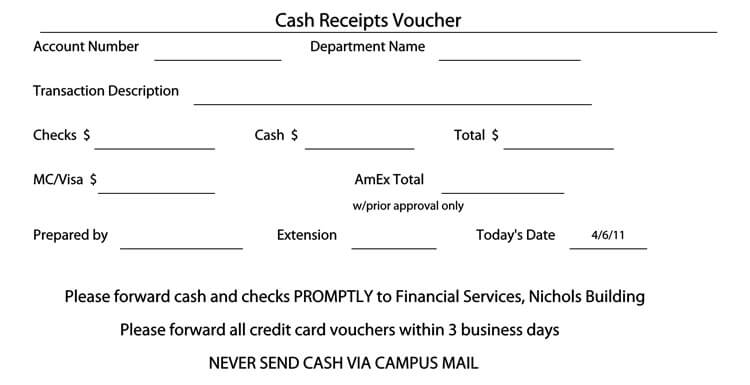 21 Free Cash Receipt Templates for Word, Excel and PDF