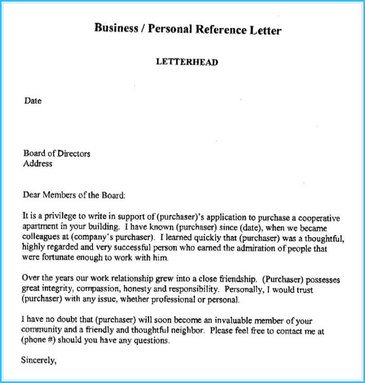 Business Reference Letter Write it Effectively (6+ Best Templates)