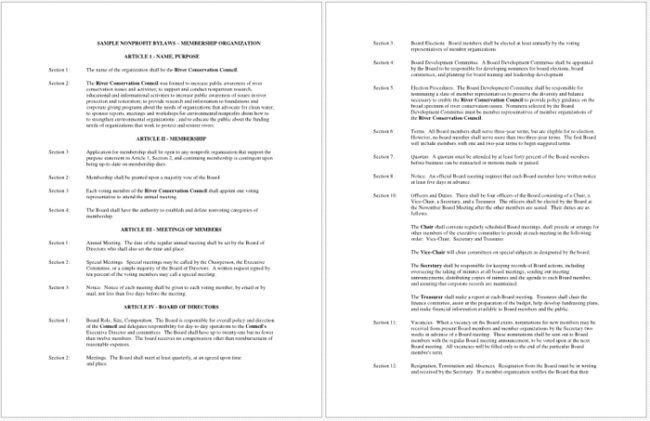 Bylaws For Nonprofit Organizations Template Gallery Template - Association bylaws template