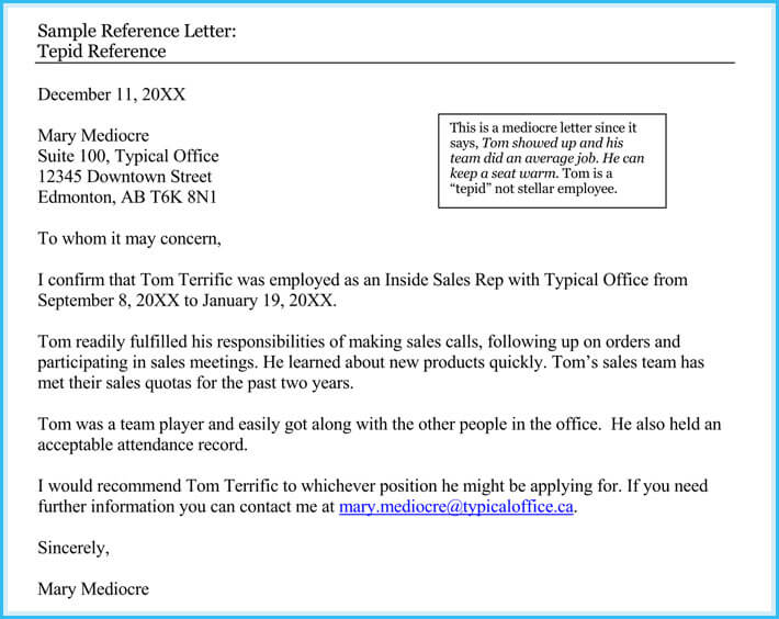character reference letter sample for employee