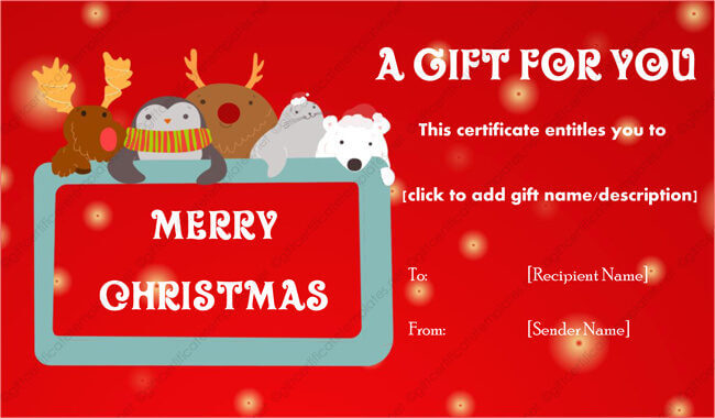 24+ Christmas  New Year Gift Certificate Templates - christmas certificate template
