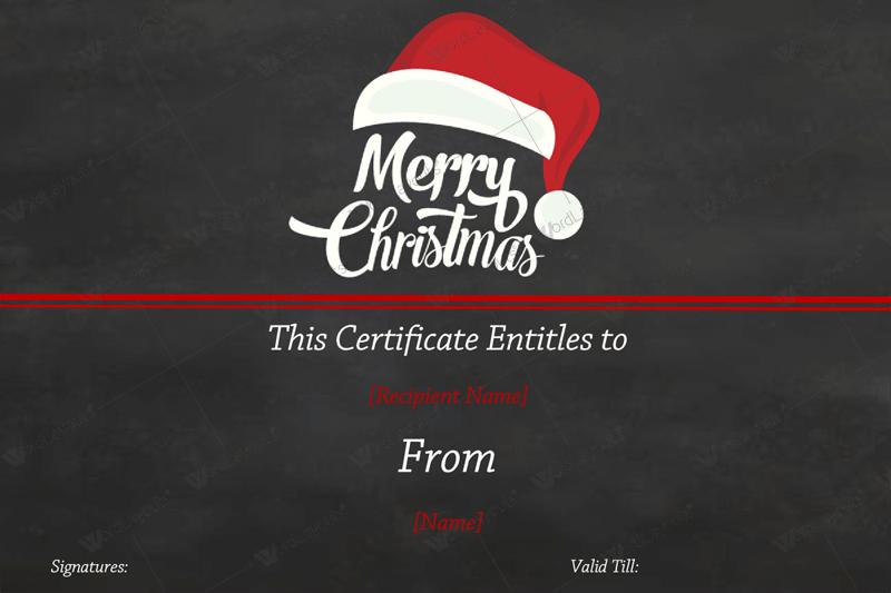 free christmas word templates