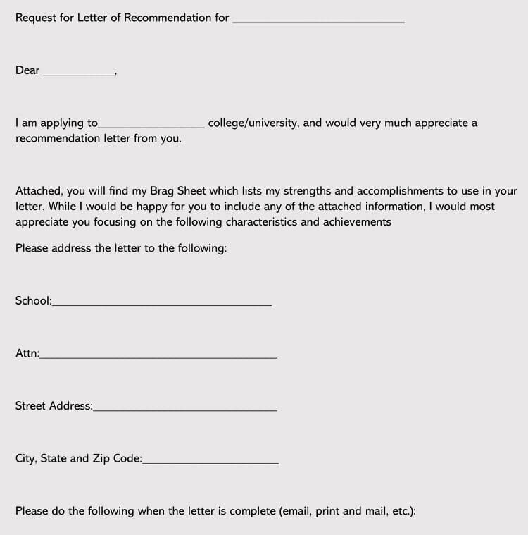 Write a Great College Recommendation Letter (7+ Samples  Examples) - college recommendation letter
