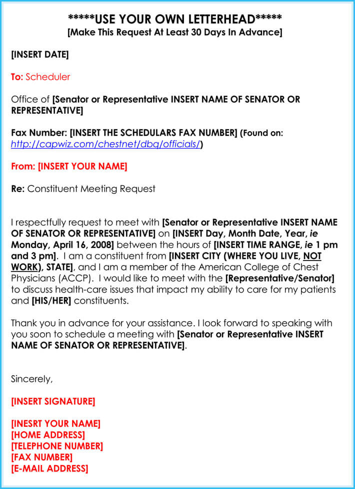 Meeting Appointment Request Letter (25+ Samples  Templates)