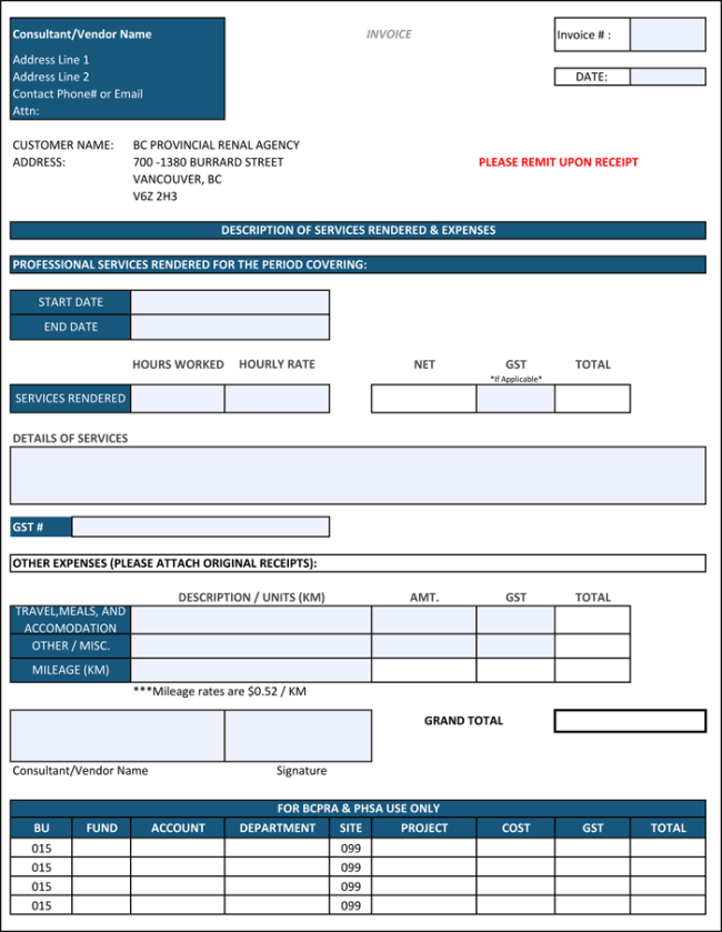 contractor invoice template word free