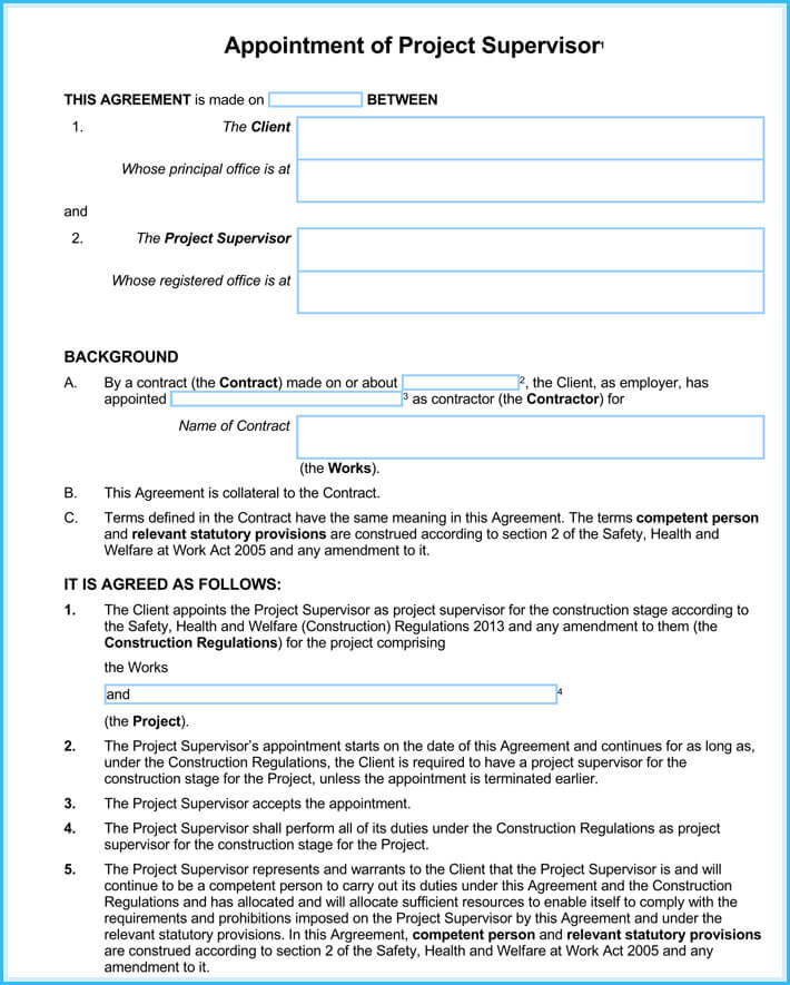 Contractor Appointment Letter (7+ Sample Letters and Formats)