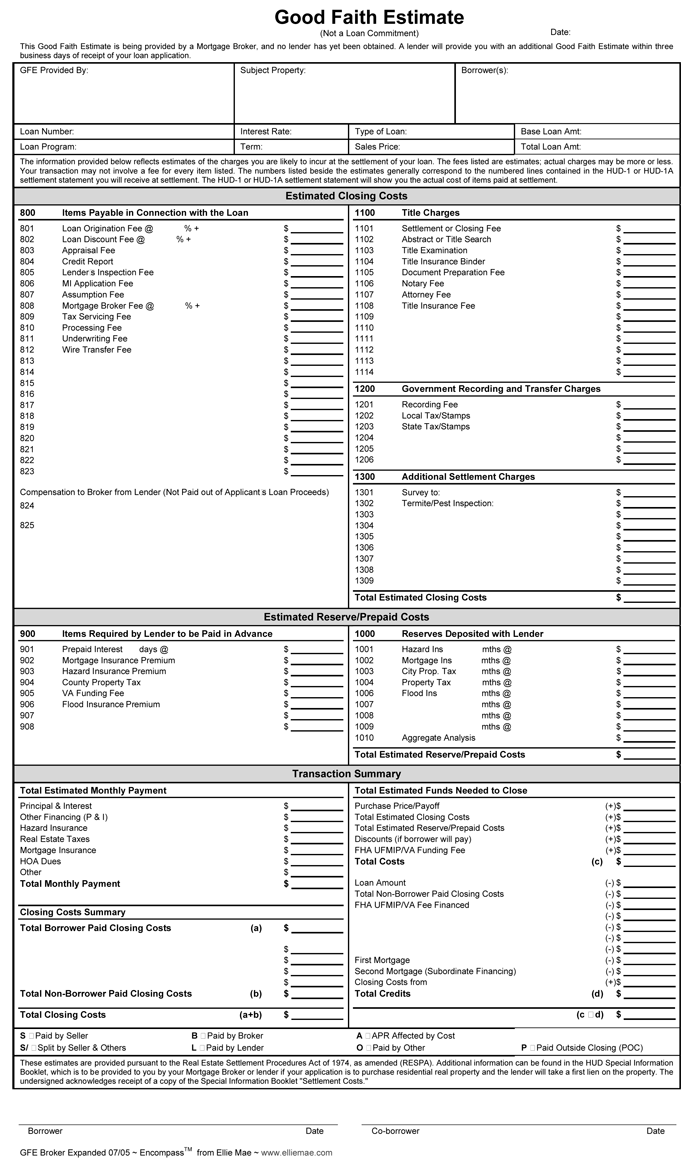 professional estimate template
