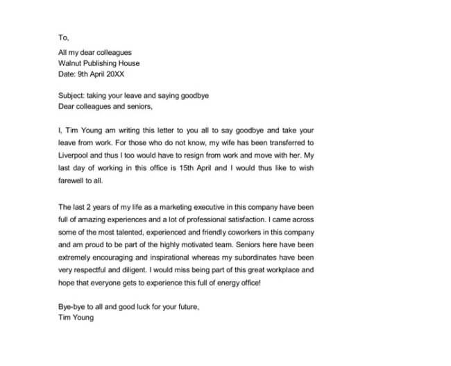11+ Best Farewell Letter Samples (for Boss, Client, Colleagues etc)
