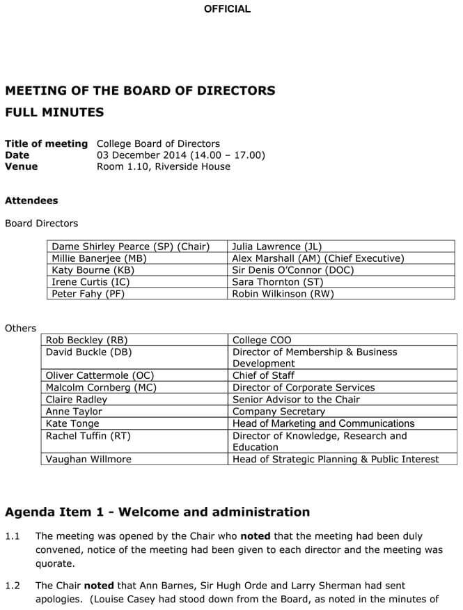 Board Meeting Agenda Templates (Guidelines and Helpful Tips) - board meeting agenda samples