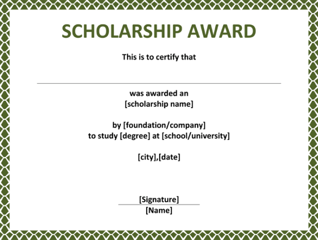 Humanitarian award certificate template image collections certificate templates for scholarship award choice image scholarship award certificate template word job application scholarship award yadclub Choice Image