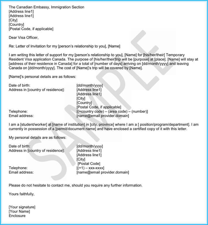 relationship support letter immigration sample
