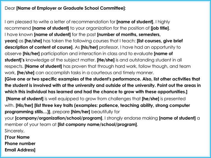 Internship Reference / Recommendation Letters (8+ Best Samples)