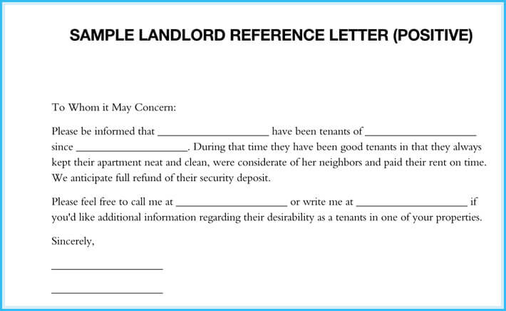 Landlord Reference Letter - 5+ Samples - What is it  How to Write it - tenant reference letter