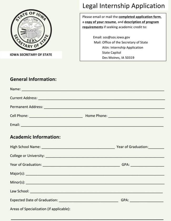 sample employment application word