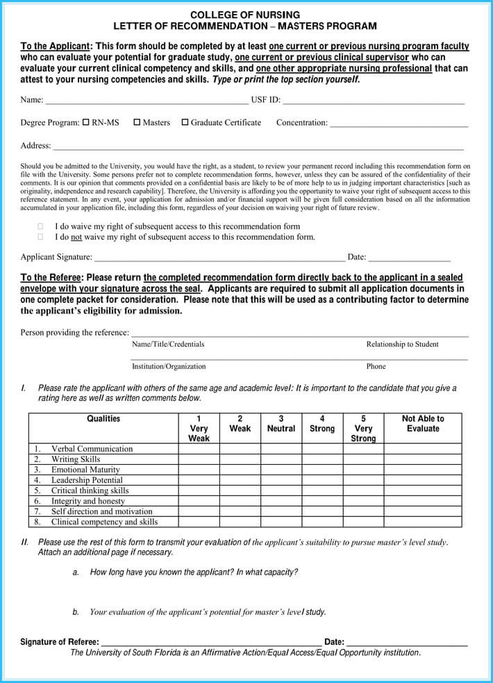 Reference Letter Examples - 20+ Samples, Formats  Writing Tips - nursing letter of recommendation