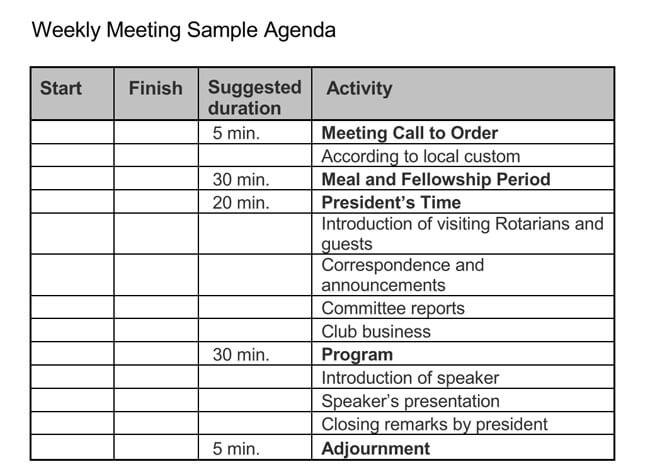 free meeting templates