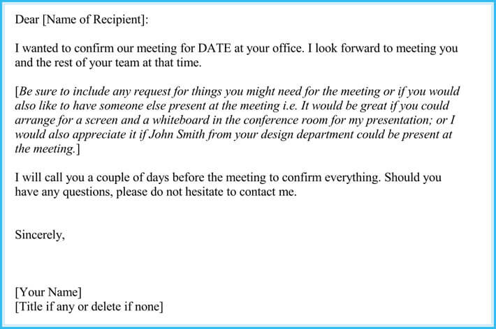 Request for Meeting Appointment Letter (12+ Samples  Templates)