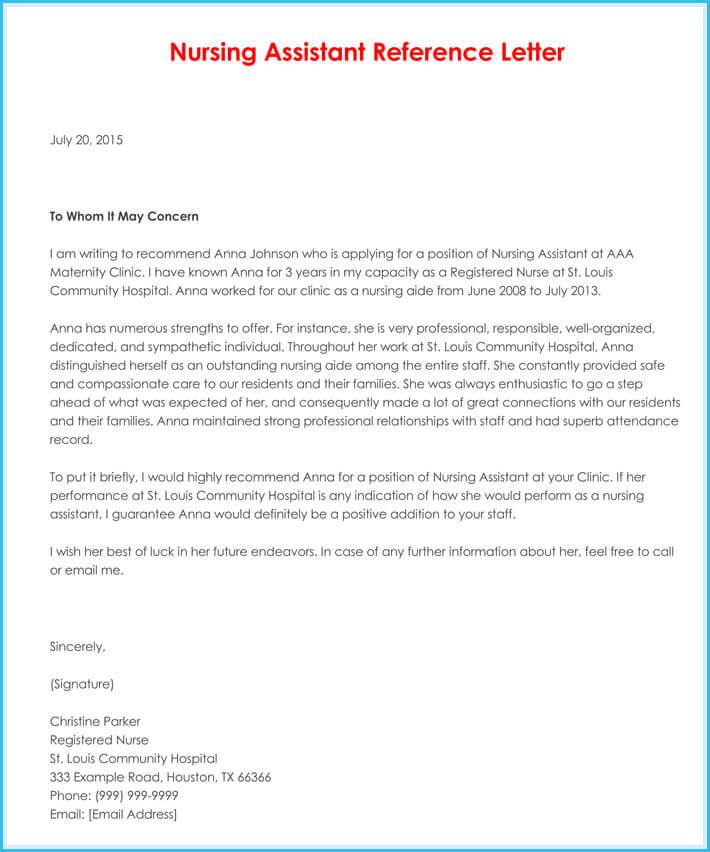 letter of recommendation sample nurse - Onwebioinnovate - nursing recommendation letter