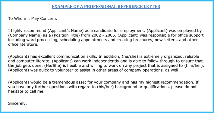 job reference letter 10 samples to write perfect