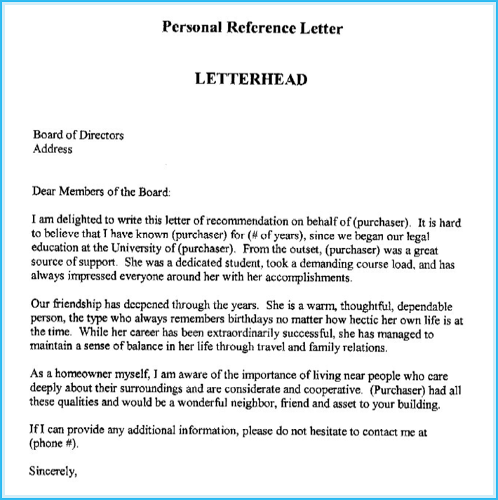 college reference letter examples
