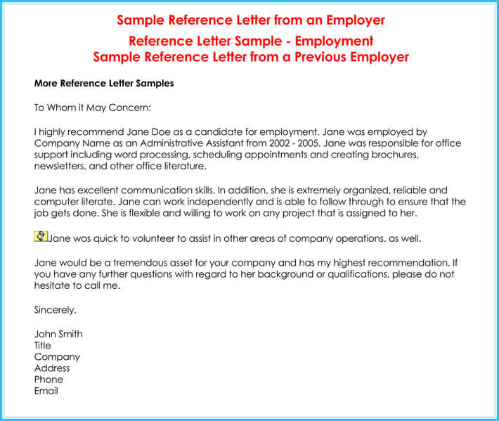 Credit Reference Letter - 6 Best Samples - Write Perfect Reference - reference letter