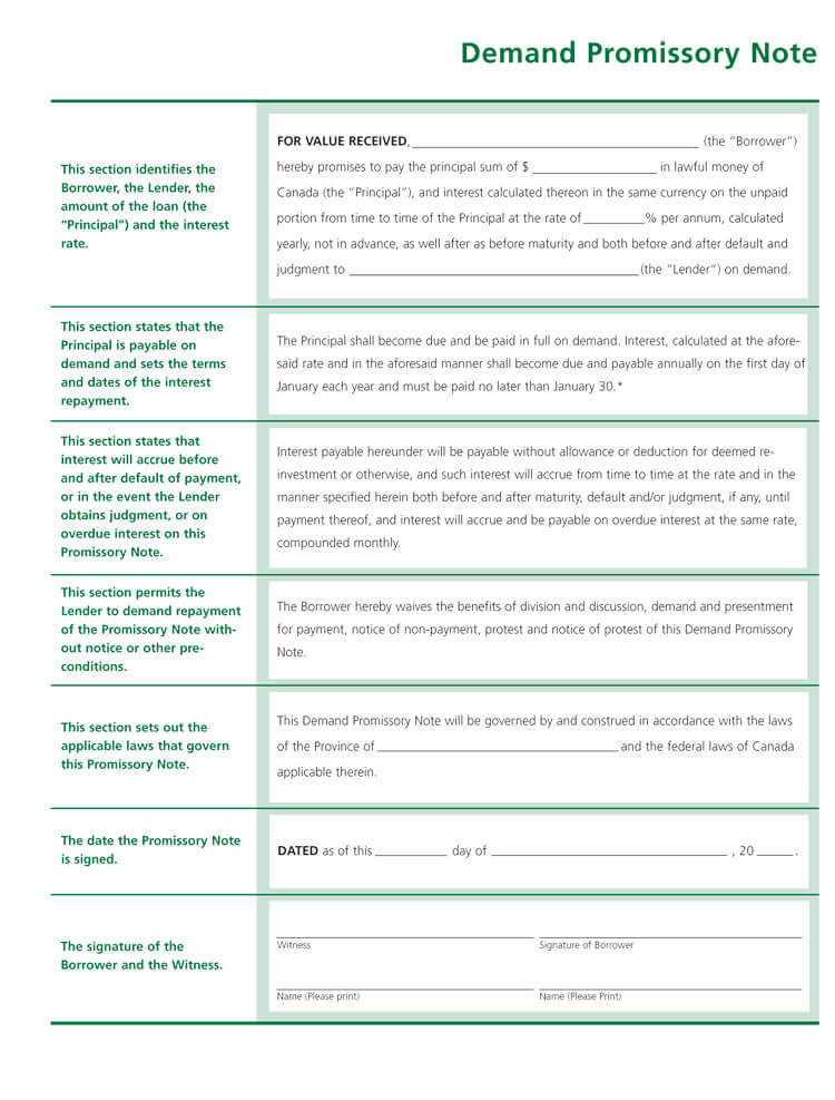 38+ Free Promissory Note Templates  Forms (Word PDF)