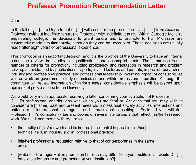 example of letter of recommendation