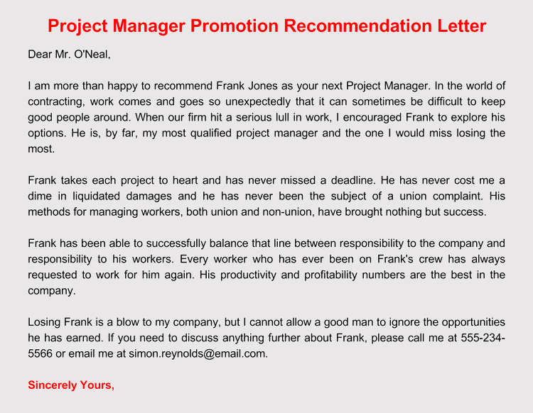 Comfortable promotion recommendation letter choice image letter promotion recommendation letter choice image letter format formal example expocarfo Choice Image